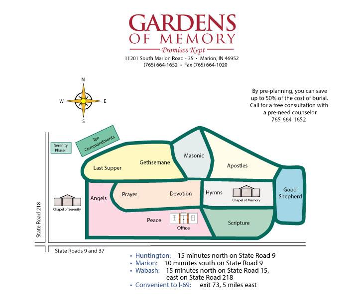 Gardens of Memory Map
